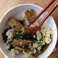 Maple-Soy Tempeh over Brown Rice with Sauteed Kale
