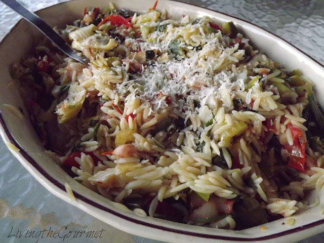 Grilled Chicken Strips with Orzo Salad