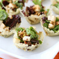 Gorgonzola Cheese Cups with Pear & Hazelnut Green Salad Recipe