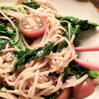 Japanese Soba Noodles with Ginger Soy Sauce