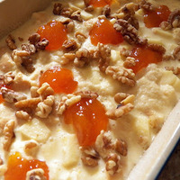 Chunky Apple-Apricot Bread Pudding #SundaySupper
