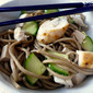 Cold Asian Noodle Salad with Cucumbers and Chicken
