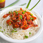 Chilli Garlic Potatoes with Noodles