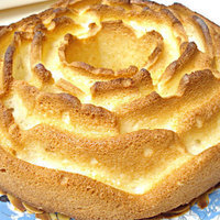 White cake with marzipan and almonds