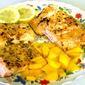 Lemon Salmon with Mango