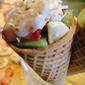 Tropical Fruit Sugar Cones