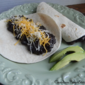 Refried Black Bean Burritos