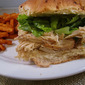 Crockpot Chicken Caesar Sandwiches