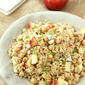 Quinoa Salad with Apple, Chickpeas, Toasted Almonds & Apple Cider Vinaigrette Recipe