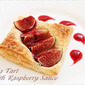 Fig Tart with Raspberry Sauce