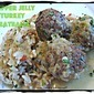 Uncle Gary's Pepper Jelly Turkey Meatballs with Confetti Rice