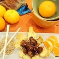 Celebrating Orange with #SundaySupper: Sichuan Style Orange Glazed Chicken with Toasted Sesame Seeds