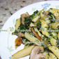 Penne with Spinach & Mushrooms