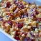 Cranberry and White Chocolate Waffle Pudding