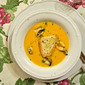 Luscious Pumpkin & Butternut Squash Soup with Steamed Mussels