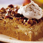 Pumpkin-Praline Squares w /Bourbon Whipped Cream +