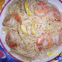Capellini w/Lemon Garlic Shrimp and Anchovies with my Big Brother!