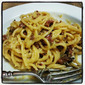 Spaghetti carbonara with smoked turkey