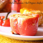 Stuffed Capsicum / Bell Peppers Stuffed With Eggs - Pressure Cooker Method