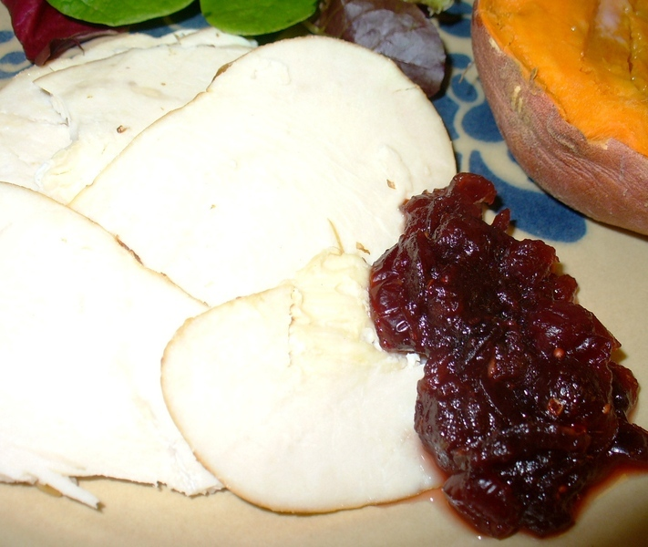 In-a-Pinch Cranberry Sauce made from Dried Cranberries