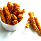 Baked Oats Crusted Paneer Fingers