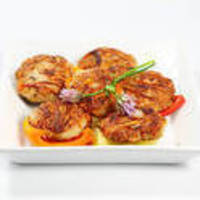 Mini Salmon Cake Appetizers with Creamy Chipotle Chile Sauce