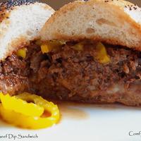 Italian Beef Dip Sandwich - Pot Roast Style-Crock Pot