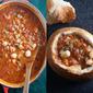 Seafood Chowder in Bread Bowls