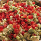 Leftover turkey salad with dill and pomegranate