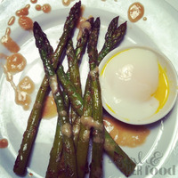 Pan Roasted Asparagus, Poached Egg & Miso Butter