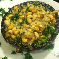 Stuffed Portobello Mushrooms with Pine Nuts, Parsley & Parmesan
