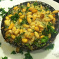 Stuffed Portobello Mushrooms with Pine Nuts, Parsley & Parmesan