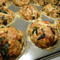 Pork Sausage vegetable MEATLOAF muffin puffs with a Goat Cheese center