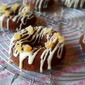 White Chocolate Drizzled Gingerbread Baked Donuts