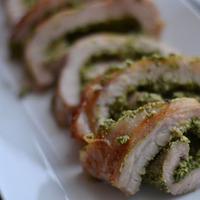 Pork Roulade with Walnut Parsley Pesto
