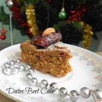 Beet-Dates Wheat Cake - Eggfree,Microwave