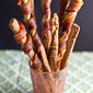 Easy Grissini Two Ways: Bacon Wrapped + Rosemary Parmesan