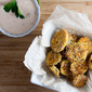 """Fried"" Pickles with Southwest Ranch Dipping Sauce"