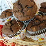 Chocolate ice-cream Hazelnut Cranberry muffins