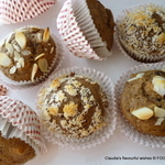 banana coffee DATE nut spice muffins