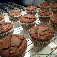 Chocolate ice-cream Hazelnut Cranberry muffins