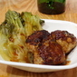 Turkey-Quinoa Meatballs with Baby Bok Choy