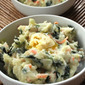 Erika's colcannon - mashed potatoes with kale, cabbage and carrots