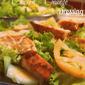 Seared Chicken, Pink Tomato and Orange Dressing Salad