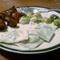 No-Fuss Alfredo Sauce, Brussels Sprouts, and Bacon-Wrapped Water Chestnuts – Who would have thought?