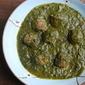 Turkey Kofta in a spinach curry