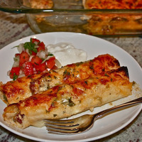 Crawfish and Tasso Enchiladas