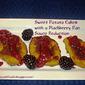 Sweet Potato Cakes with a Blackberry Pan Reduction Sauce