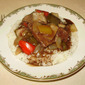"Slow Cooker Beef ""Tips"" with Peppers and Onion"
