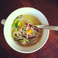 Miso soup with soba noodles